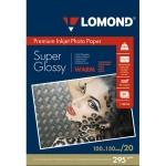 Фотобумага для струйных принтеров Lomond А6, 20 листов, 295г/м2, суперглянцевая, 1108103