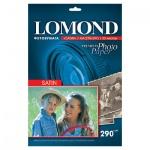 Фотобумага для струйных принтеров Lomond А4, 20 листов, 290 г/м2, усиленно белая, атласная
