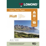 Фотобумага для струйных принтеров Lomond А3, 100 листов, 95 г/м2, матовая