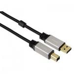 Кабель удлинительный USB 2.0 Hama A-B (m-m) 1.8 м, позолоченные контакты, черный, H-53742