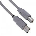 Кабель соединительный USB 2.0 Hama A-B (m-m) 3 м, серый, H-29100