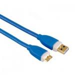 Кабель соединительный USB 3.0 Hama A-B-micro (m-m) 1.8 м, синий, H-39682