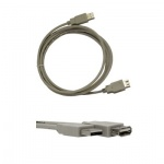 Кабель удлинительный USB 2.0 Buro A-A (m-f) 5 м, серый