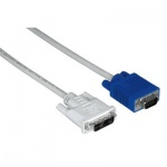 Кабель соединительный DVI-VGA Hama DVI-VGA (m-m) 1.8м, серый, H-45075