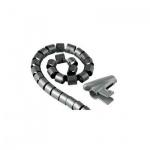 Кабель-органайзер Hama [OpZ] 25 мм 2 м, серый, H-20583