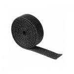 Стяжка для кабеля Hama Hook&Loop 100см, рулон, черная, термостойкая, на липучке
