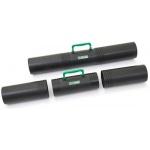 Тубус с ручкой Стамм ПТ41 D=10см, L=65см, черный, 3 секции