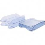 Лоток горизонтальный для бумаг Стамм Люкс А4, 2 шт/уп, голубой