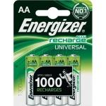 Аккумулятор Energizer Rech Universal AA/LR6, 1300 mAh, 4шт/уп