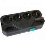 Сетевой фильтр Most СRG 6 розеток, 4 с заземлением + 2 без заземления, 2м, черный