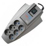 Сетевой фильтр Pilot Zis X-Pro 6 розеток, серый, 7м, серый