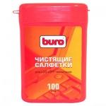 Салфетки чистящие для мониторов Buro BU-TFT 100 шт/уп, в тубе