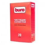 Салфетки чистящие универсальные Buro BU-Udry 20 шт/уп