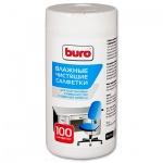 Салфетки чистящие универсальные Buro BU-Tsurl 100 шт/уп, в тубе, 817442