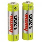 Аккумулятор Hama Universal AA/HR6, 1300mAh, 2шт/уп