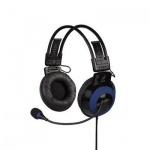 Гарнитура игровая Hama uRage Vibra черно-синяя, 20Гц-20кГц