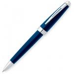 Ручка шариковая Cross Aventura Blue М, черная, корпус пластик и хром, синий лак, AT0152-2