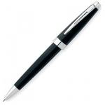 Ручка шариковая Cross Aventura Black М, черная, корпус пластик и хром, черный лак, AT0152-1