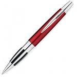 Ручка шариковая Cross Contour М, черная, красная латунь и хром корпус, AT0322-3