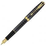 Ручка перьевая Parker Sonnet F531 F, серый/золотой корпус