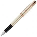 Ручка перьевая Parker Sonnet F535 F, серебро/розовое золото корпус