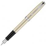 Ручка перьевая Parker Sonnet F535 F, латунь/серебро корпус