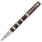Ручка-5й пишущий узел Parker, черная, коричневый/хром корпус