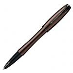 Ручка-роллер Parker Urban Premium T204 F, черная, коричневый корпус
