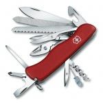 Нож солдатский 111мм Victorinox WorkChamp 0.9064, 21 функция, 6 уровней, красный, с фиксатором