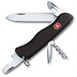 Нож для спецслужб 111мм Victorinox Nomad 0.8353.3, 11 функций, 2 уровня, черный, с фиксатором