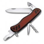 Нож для спецслужб 111мм Victorinox Nomad 0.8351.C, 9 функций, 2 уровня, красно-черный, с фиксатором
