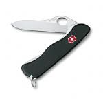 Нож для спецслужб 111мм Victorinox Sentinel One Hand 0.8413.M3, 4 функции, 1 уровень, черный, с фиксатором