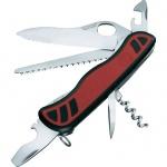 Нож для спецслужб 111мм Victorinox Forester One Hand 0.8361.MWC, 10 функций, 3 уровня, красно-черный, с фиксатором