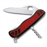 Нож для спецслужб 111мм Victorinox Sentinel One Hand 0.8321.MWC, 3 функции, 1 уровень, красно-черный, с фиксатором
