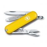 Нож-брелок 58мм Victorinox Classic 0.6223.8, 7 функций, 2 уровня, желтый