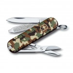 Нож-брелок 58мм Victorinox Classic 0.6223.94, 7 функций, 2 уровня, камуфляж