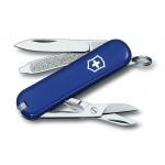 Нож-брелок 58мм Victorinox Classic 0.6223.2, 7 функций, 2 уровня, синий
