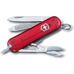 Нож-брелок 58мм Victorinox Signature Ruby 0.6225.T, 7 функций, 2 уровня, красный