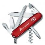 Нож офицерский 91мм Victorinox Camper, 13 функций, 3 уровня, красный