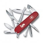 Нож офицерский 91мм Victorinox Fisherman 1.4733.72, 17 функций, 4 уровня, красный, с логотипом рыба