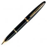 Ручка перьевая Waterman F, черный с золотом корпус