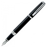 Ручка перьевая Waterman Exception Night М, черный с серебром корпус, черный с серебром корпус