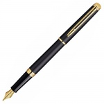Ручка перьевая Waterman Hemisphere Matte Black CT F, черный с золотом корпус