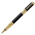Ручка-роллер Waterman Elegance F, черная, черно-золотой корпус