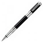 Ручка-роллер Waterman Elegance F, черная, черно-серебристый корпус
