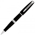 Ручка-роллер Waterman Charleston F, черная, черный с серебром корпус