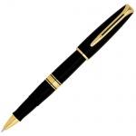 Ручка-роллер Waterman Charleston F, черная, черный с золотом корпус