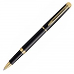 Ручка-роллер Waterman Hemisphere Mars Black, черная, черно-золотой корпус