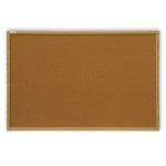 Доска пробковая 2x3 TC 129 90х120см, коричневая, деревянная рама