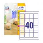 Этикетки прозрачные Avery Zweckform Crystal Clear L7781-25, глянцевые, 45.7x25.4мм, 40шт на листе А4, 25 листов, 1000шт, для копир/ цветной лазерной печати